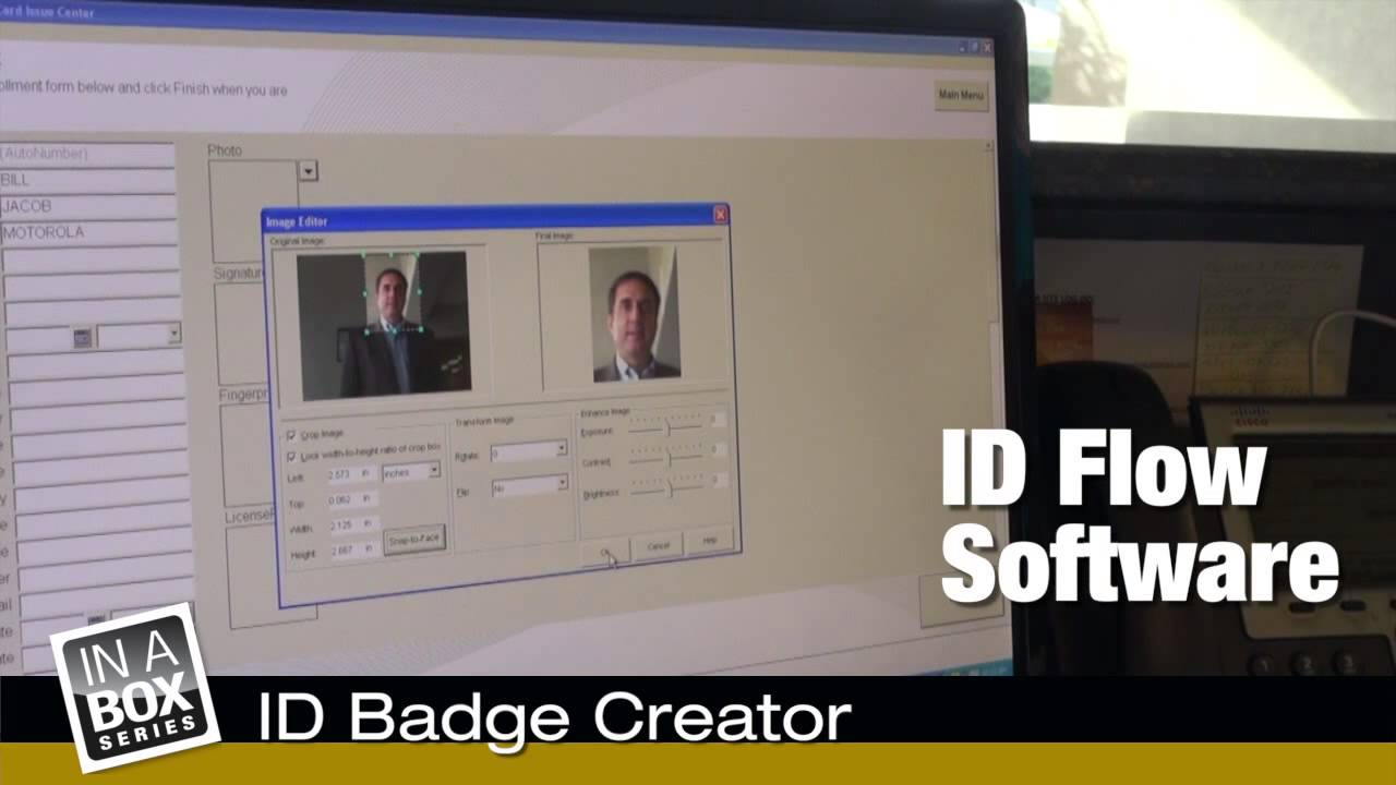 id badge creator solution in a box youtube