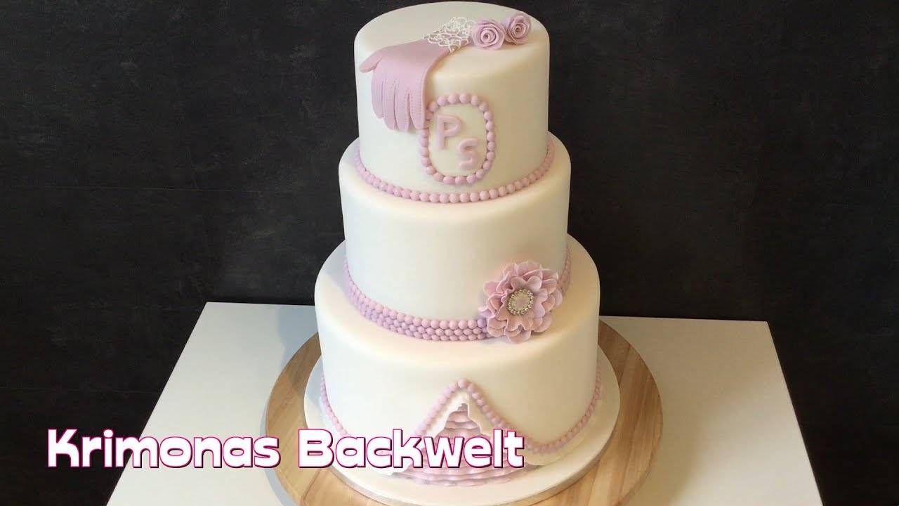 Drei Stöckige Hochzeitstorte Three Tiered Wedding Cake Vintage