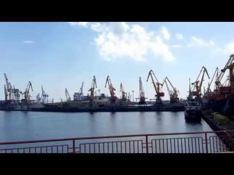Sea port of Odessa, Ukraine.