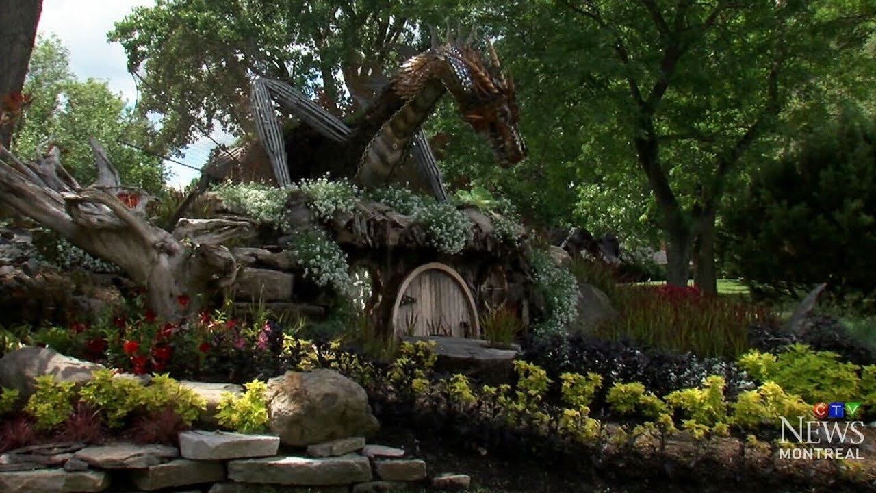 Hobbitthemed garden featuring Smaug talk of town in