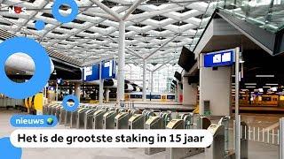 Geen treinen, bussen en trams door grote staking