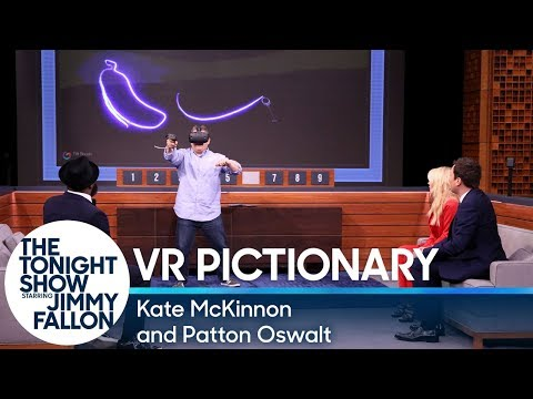 Download Youtube: Virtual Reality Pictionary with Kate McKinnon and Patton Oswalt