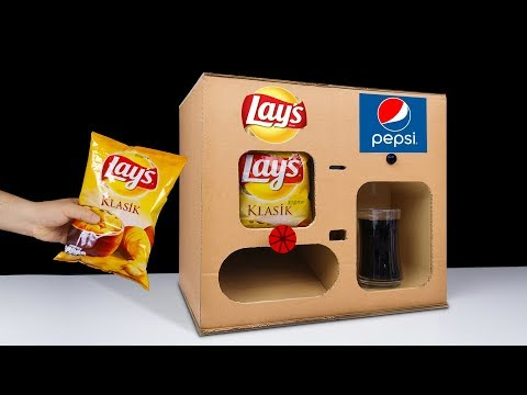 DIY How to Make LAY'S Chips and Pepsi Vending Machine