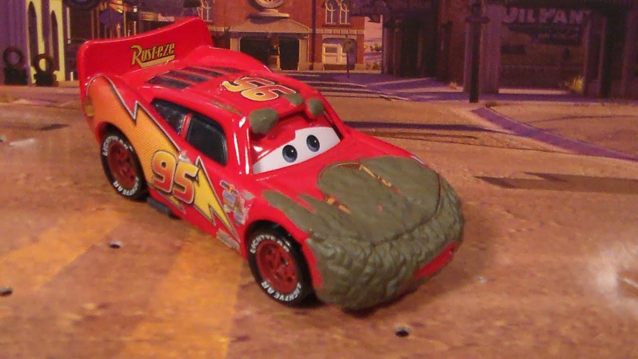Muddy Lightning Mcqueen 2010 Mattel Disney Pixar Cars