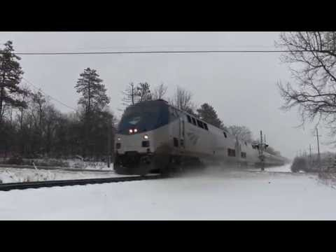 Thumbnail: Amtrak trains in the Snow!
