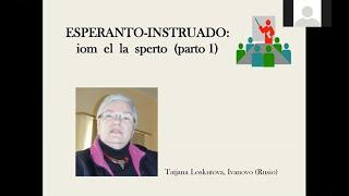 Esperanto instruado: iom el la sperto