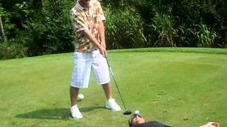 Man Has Golf Ball Hit Out of his Mouth! Crazy! Hilarious!