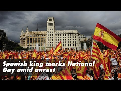 Live: Spain's King Felipe leads National Day celebrations amid Catalan unrest 西班牙国王喜迎国庆