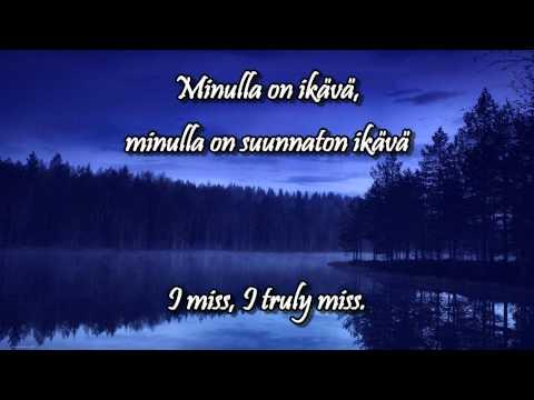 Ikävä w/lyrics (english, finnish) - Pave Maijanen