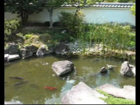 Himeji castle japanese garden small koi pond youtube for Koi pond quezon city