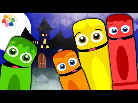 Halloween Songs for Kids | Color Crew Special | Spooky Scary Songs by BabyFirst TV