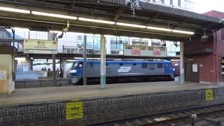 【名鉄ホームより】東海道本線 EF210 コンテナ貨物列車 金山駅通過