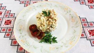 Салат с ветчиной и сыром Простые салаты на скорую руку Салат з шинкою та сиром рецепти салатів