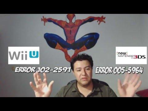 Como Solucionar Error Wii U 102-2591 Y Nintendo 3DS Error 005-5964