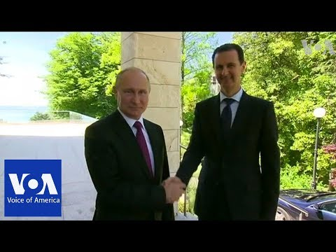 Syria's Assad Meets With Putin in Russia
