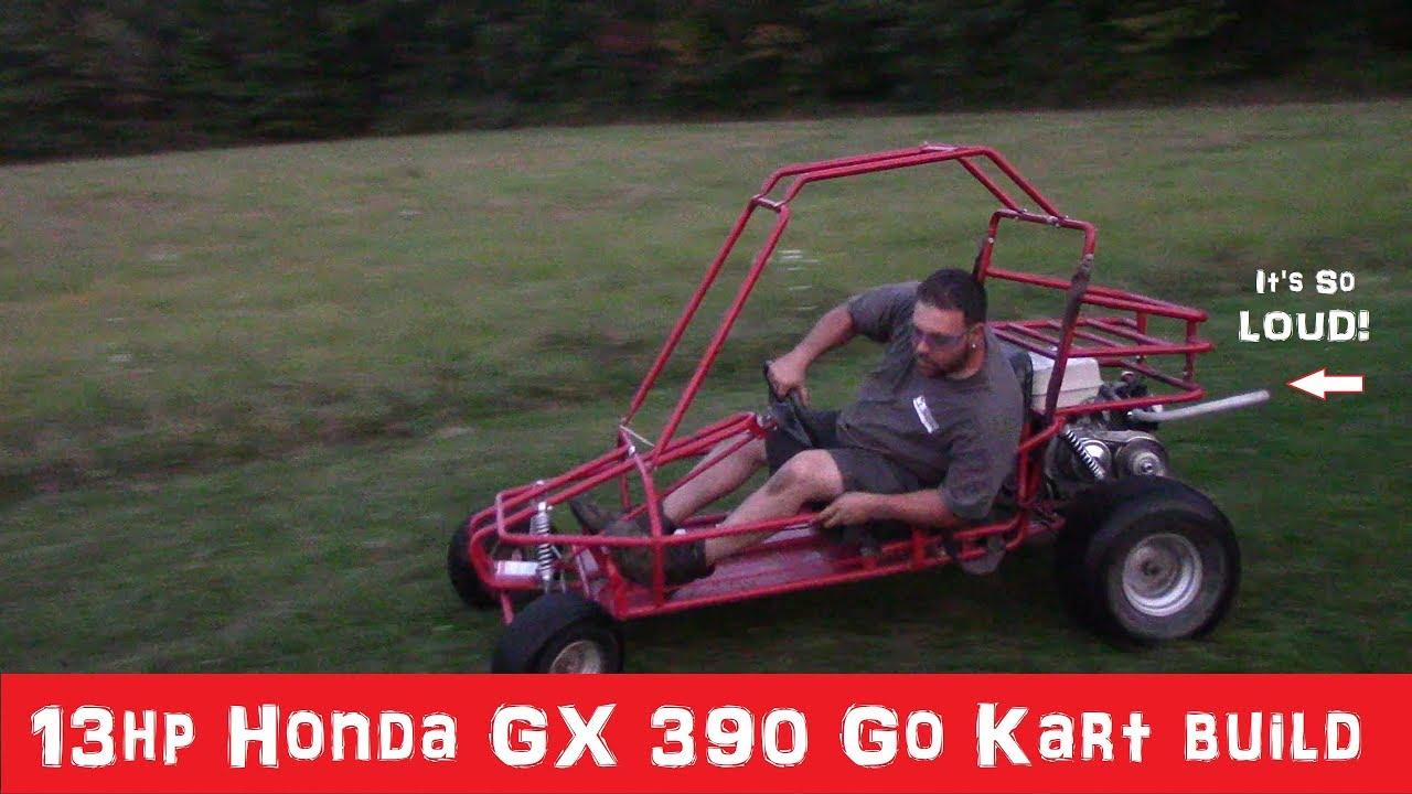 13hp Honda GX 390 Go Kart build