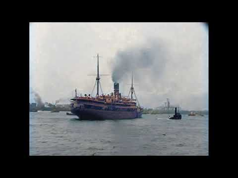 Rotterdam, Hoek van Holland, Paris & London (Müller en Co Shipping Co.) in 1927 in color!