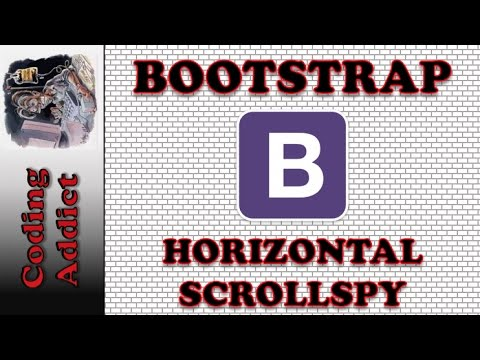 Bootstrap Tutorial for Beginners - Bootstrap Scrollspy (horizontal)
