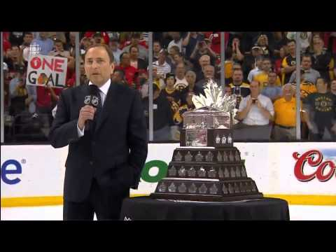CBC   2013  Chicago Blackhawks Win The Stanley Cup  Conn Smythe, Cup Presentation  Part 1  6 24 13