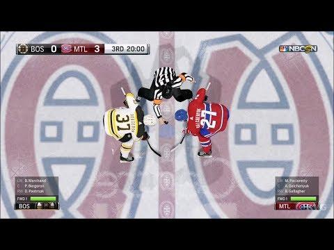 NHL 18 - Montreal Canadiens vs Boston Bruins - Gameplay (HD) [1080p60FPS]