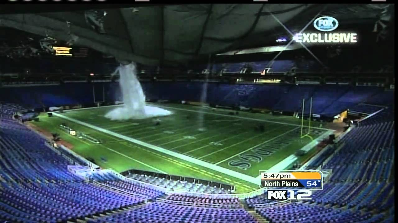 ★holy Brett Favre★ Metrodome Roof Collapse Under Snow Nfl