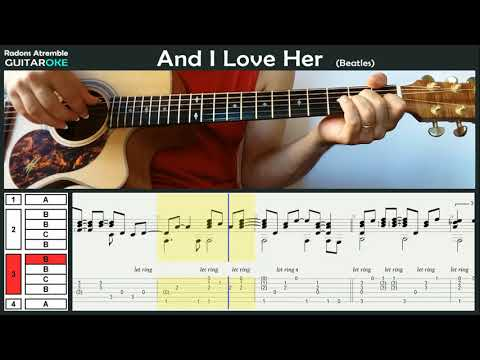 And I Love Her (Beatles) - Pat Metheny - Guitar Tabs & Score