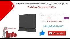 Configuration Routeur Vodafone Avanzado