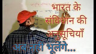 भारत के संविधान की 12 अनुसूचियाँ... पढ़ो ऐसे कि पढ़ा सको.