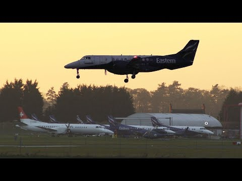 STORED Eastern Airways Jetstream41 G-MAJZ positioning flight Humberside Airport