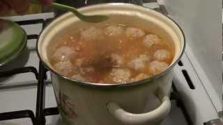 Готовим вкусный картофельный суп с фрикадельками