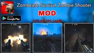 Zombeast Survival (Mod) - Game FPS offline mới trên mobile