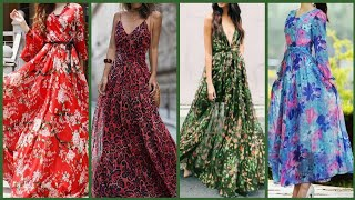 fabulous designer (2020) floral long maxi dresses ideas for girls and women.