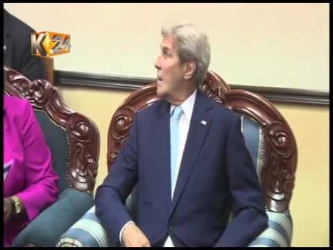 US Secretary of State, John Kerry holds talks with President Uhuru Kenyatta at State House, Nairobi