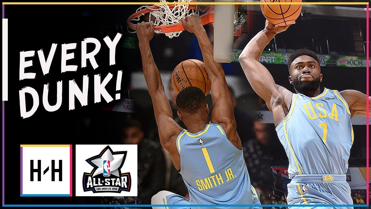 73149d72d5e EVERY DUNK at 2018 NBA Rising Stars Game Highlights