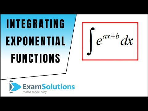 How to integrate exponential functions : ExamSolutions Maths Revision Tutorials