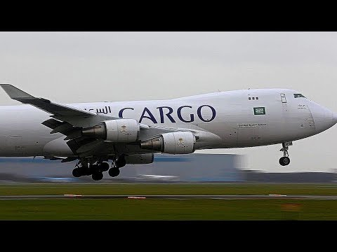 "STORM Schiphol, DOUBLE RUNWAY USAGE, Landing & takeoff ""real aviation"" inc. ATC"