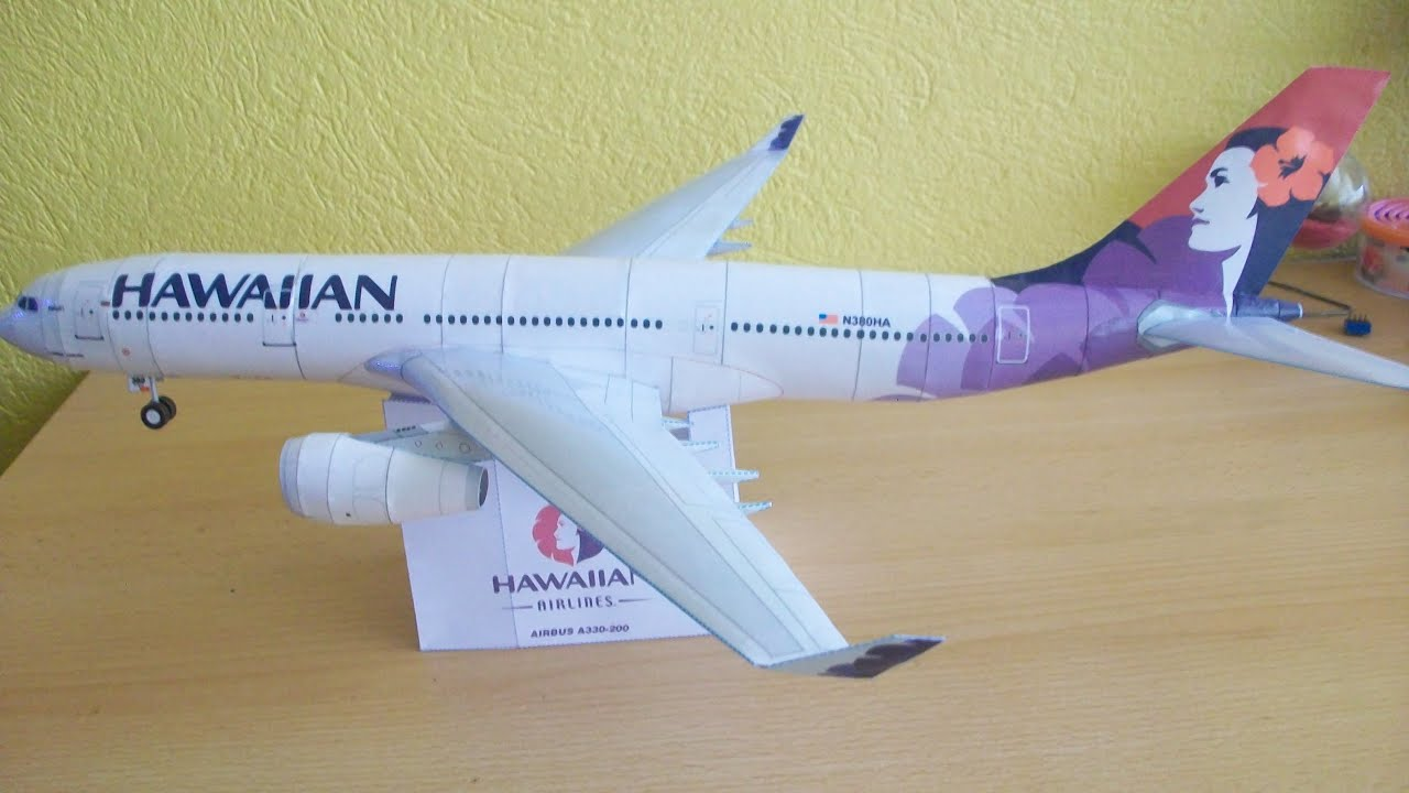 Papercraft Hawaiian Airlines A330 200 Papercraft