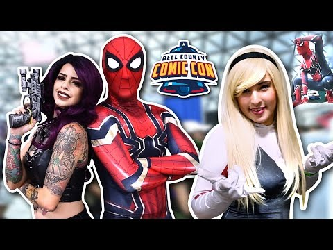 SPIDER-MAN SPIDERVERSE VS Bell County Comic Con 2018 Ft. SPIDER-GWEN