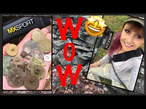 Metal detecting old foundations: Ancient coins, silver, relics! MX Sport