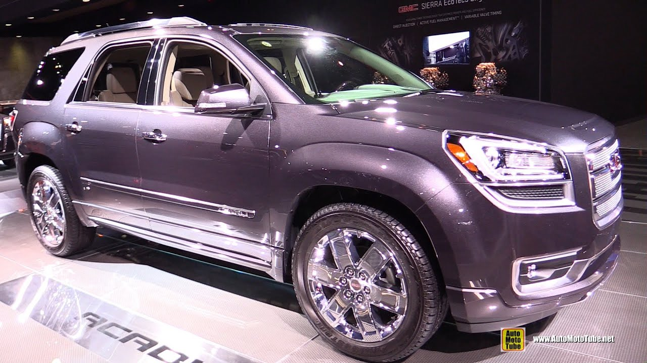 gmc acadia 2015 interior. 2015 gmc acadia denali exterior and interior walkaround detroit auto show youtube gmc a