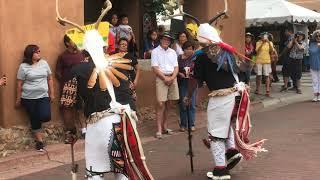 SWAIA 96th Annual Santa Fe Indian Market - Walking Around   Deer Dancers