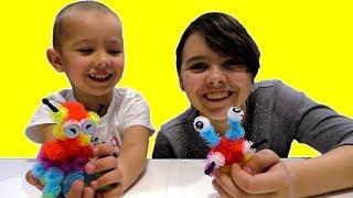 Детский Конструктор репейник Бунчемс Обзор игрового набора Делаем фигурки животных Игрушки FIX PRICE