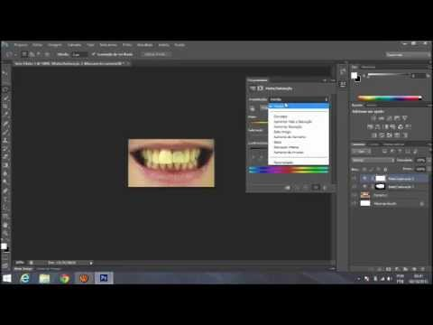 Como Deixar Os Dentes Brancos No Photoshop Cs6 Youtube
