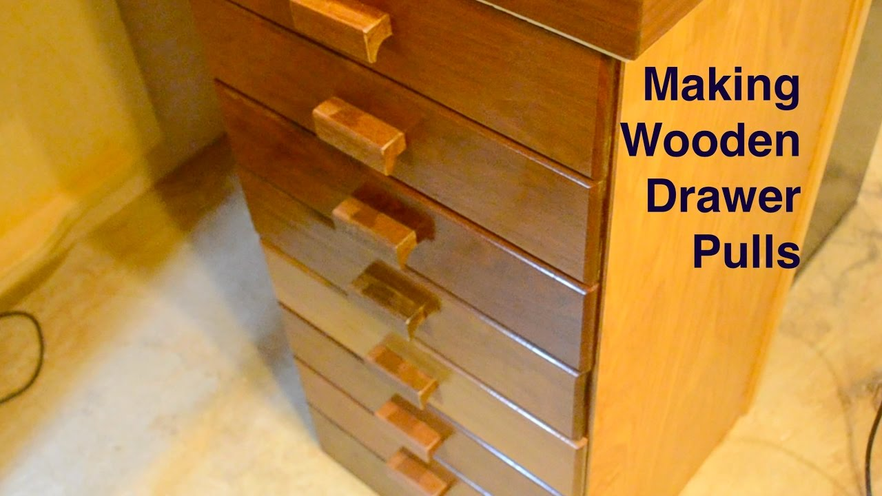 Making Wooden Drawer Pulls Youtube