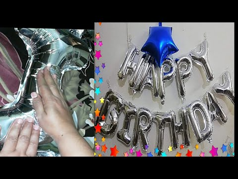 How to Deflate and inflate Foil Balloon and use Them Again/Foil Balloons Review