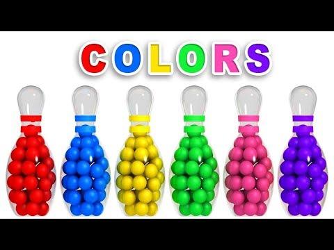 Canzone filastrocca Finger Family CARTONI animati per bambini in 3D I COLORI in INGLESE!