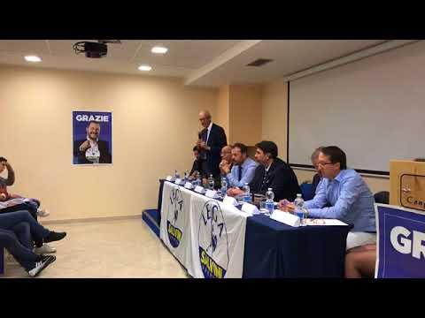 Alberto Bagnai ad Olbia per il lancio campagna elettorale della Lega (AlgheroChannel, 17/05/2018)