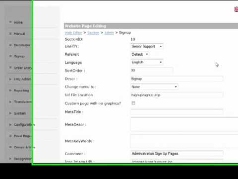 MLM Software Configuration Video 3 Terms and Conditions Editor, Website Style etc.