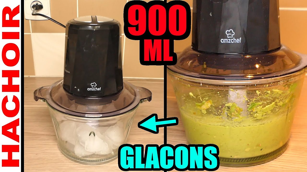 hachoir multifonction amzchef amazon 300w 900ml persil ail glacons glace pilee type lidl silvercrest