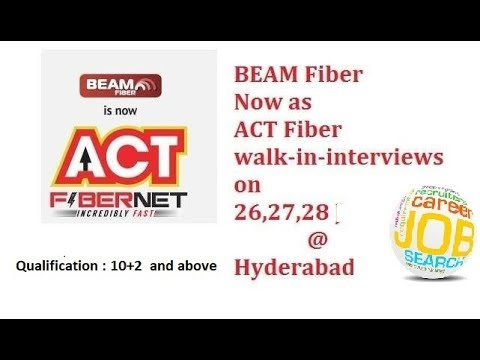 on roll jobs as field sales executive in ACT fibernet at  hyderabad